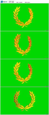 动态橄榄枝边框视频