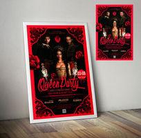 酒吧三八妇女节主题活动派对宣传海报设计PSD素材