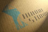 提案贴图纸箱印刷标志展示logo效果图
