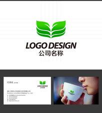 叶子花蕾LOGO标志设计 AI