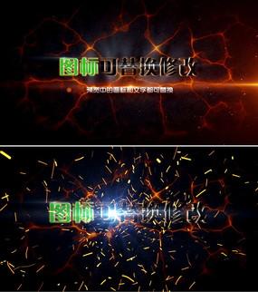 震撼粒子火花logo标志演绎片头ae模板