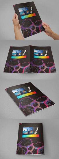 炫彩商务科技画册封面设计