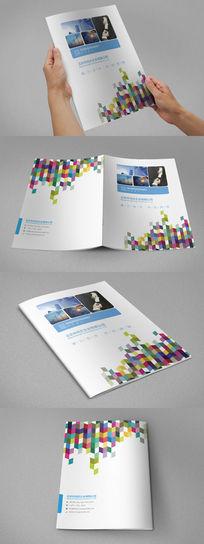 蓝色商务科技画册封面设计