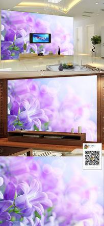 茉莉开花现代简约客厅电视背景墙