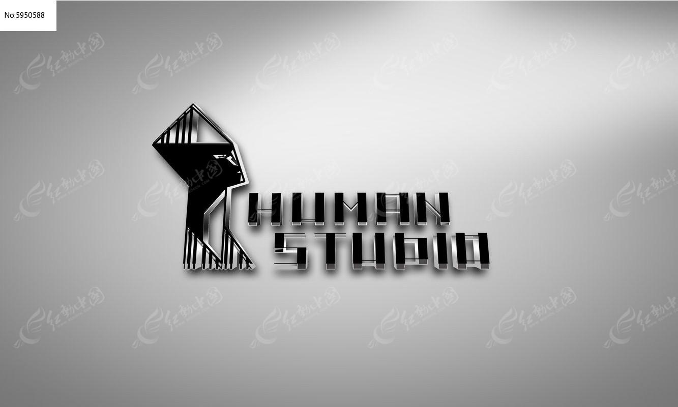 提案贴图水晶字立体标志展示logo效果图图片