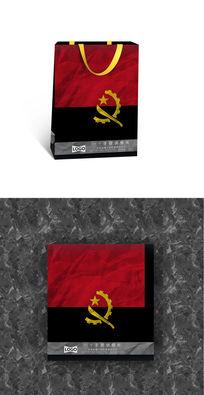 安哥拉国旗旅游手提袋