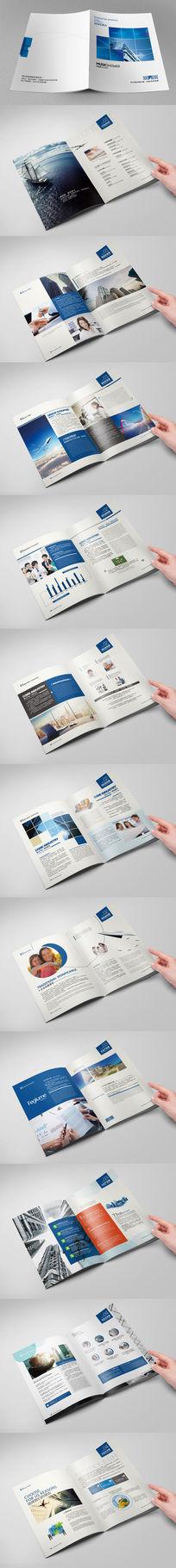 大气简洁企业集团形象画册设计