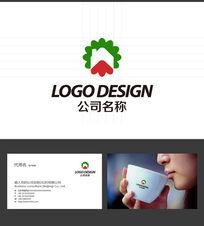 花园楼房LOGO标志设计