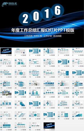 蓝色工作汇报PPT年度总结PPT设计