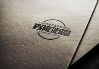 纸张压凹logo效果 PSD