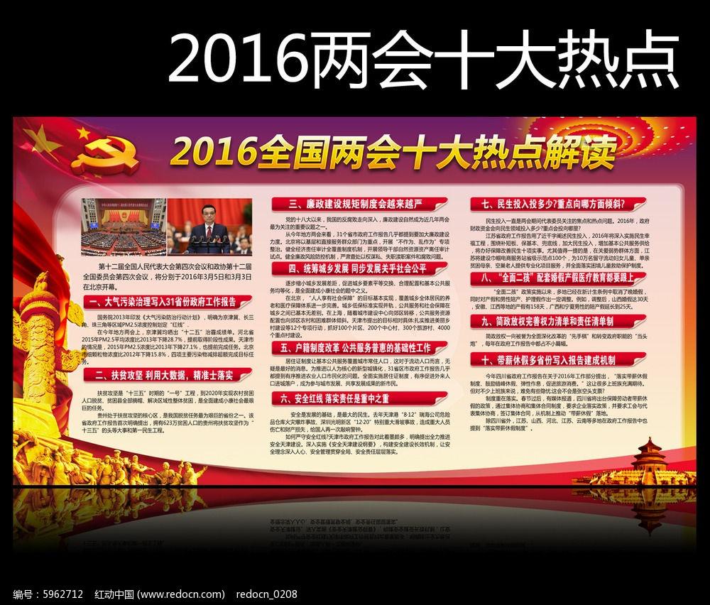 2016全国两会十大热点展板宣传栏