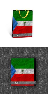 绿白红旅游国际手提袋