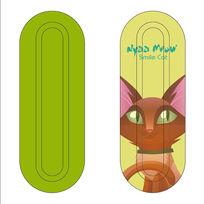 绿色猫咪餐具铁盒设计