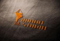 提案贴图刺绣立体标志展示logo效果图 PSD