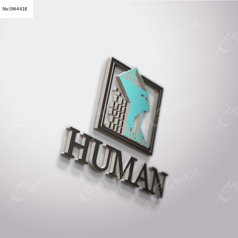 提案贴图金属立体标志展示logo效果图图片