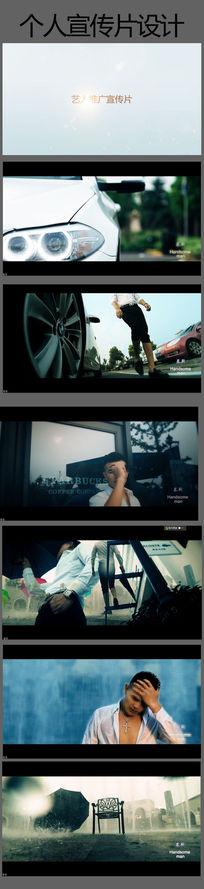 性感男人模特明星个人宣传片广告视频