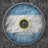 阿根廷国旗跨国企业光盘 PSD