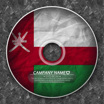 阿曼国旗跨国企业光盘 PSD