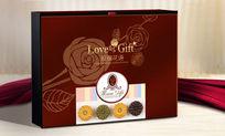 玫瑰花语月饼包装设计 PSD
