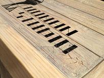 提案贴图木质标志展示logo效果图 PSD