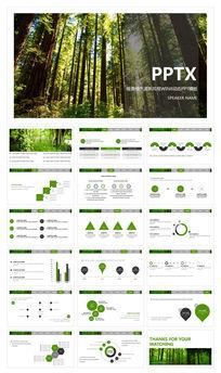 唯美绿色清新风格WIN8动态PPT模板