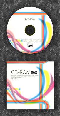 彩色边缘时尚可爱质感光盘设计