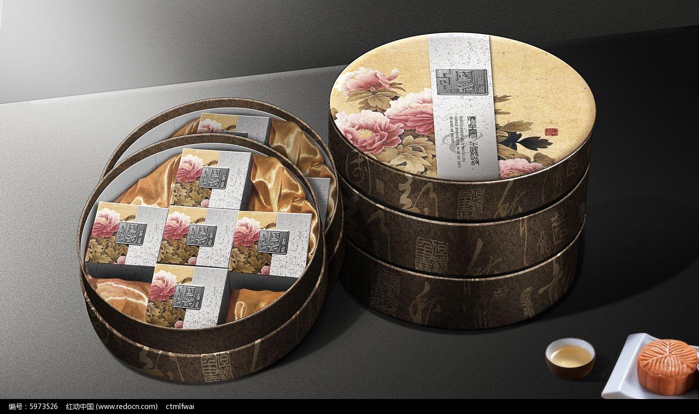 国韵月饼包装设计图片
