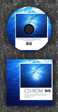海波纹白框照片公司光盘