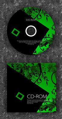 黑绿酷炫音乐企业光盘设计 PSD