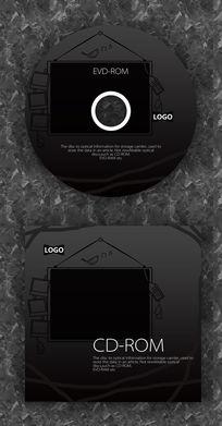黑色黑板可爱公司光盘
