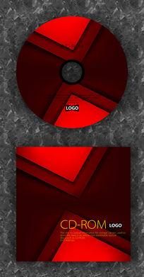 红色渐变简洁质感光盘设计
