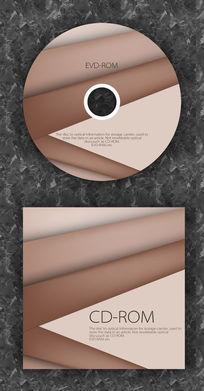 咖啡色可爱企业光盘设计