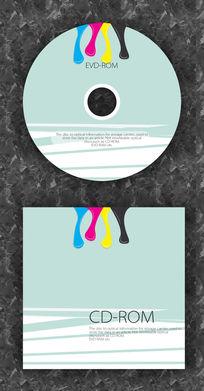 可爱液体色彩企业光盘设计