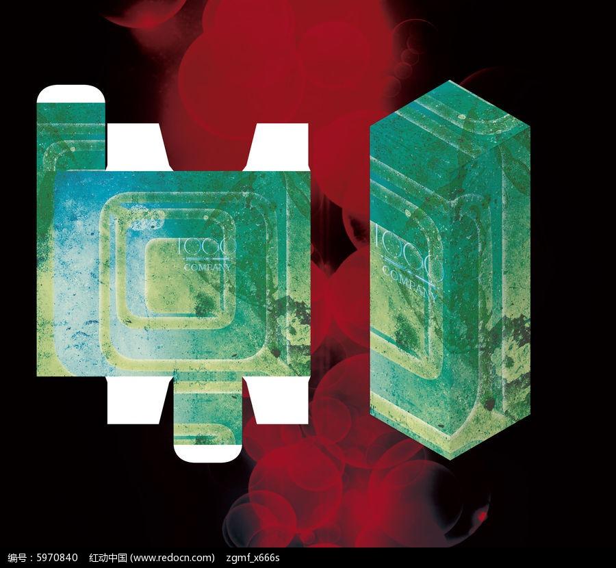框架设计圆角时尚包装盒ai素材下载_工艺品包装设计