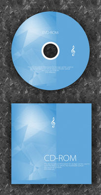 蓝色音符演唱会光盘模板 PSD