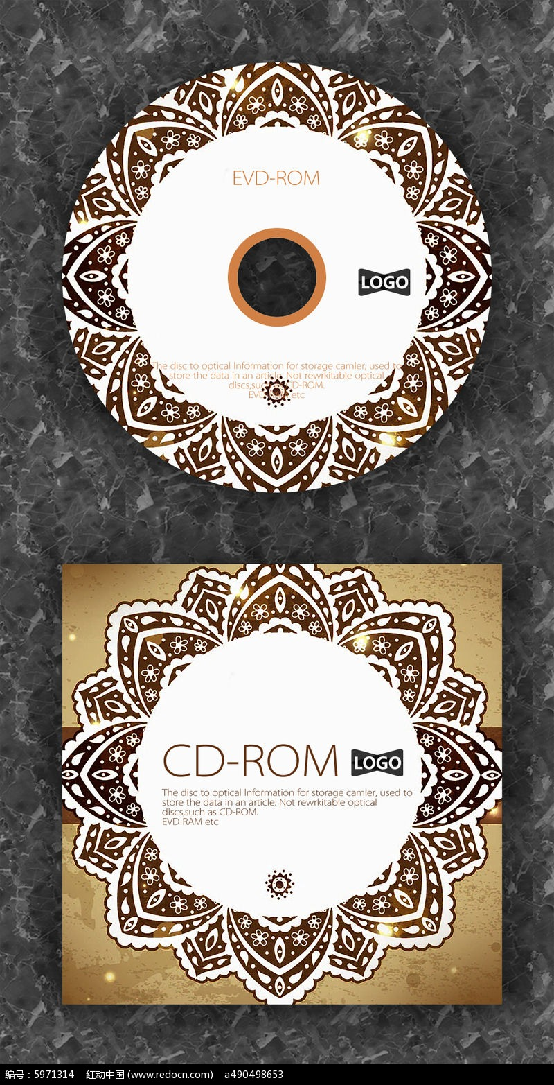 欧式复古典雅cd封面设计