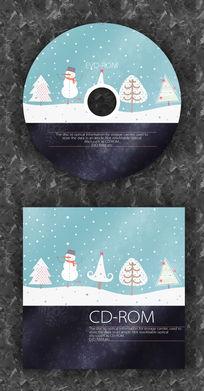 圣诞节雪人光盘包装