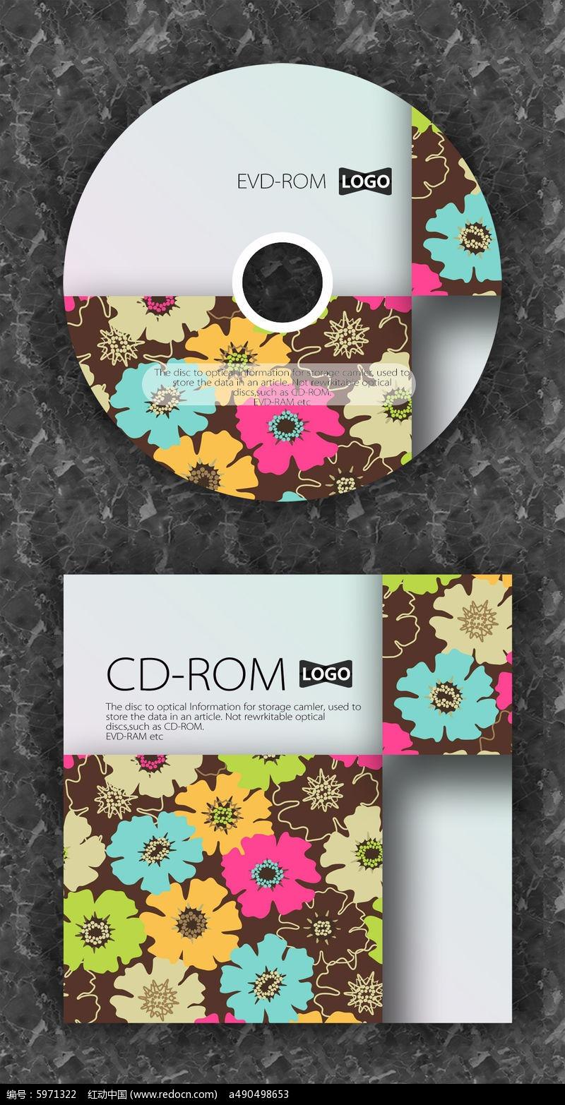 时尚碎花可爱cd封面设计图片