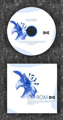 中国风水墨花CD封面设计
