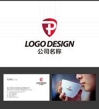 P字母LOGO标志设计 AI