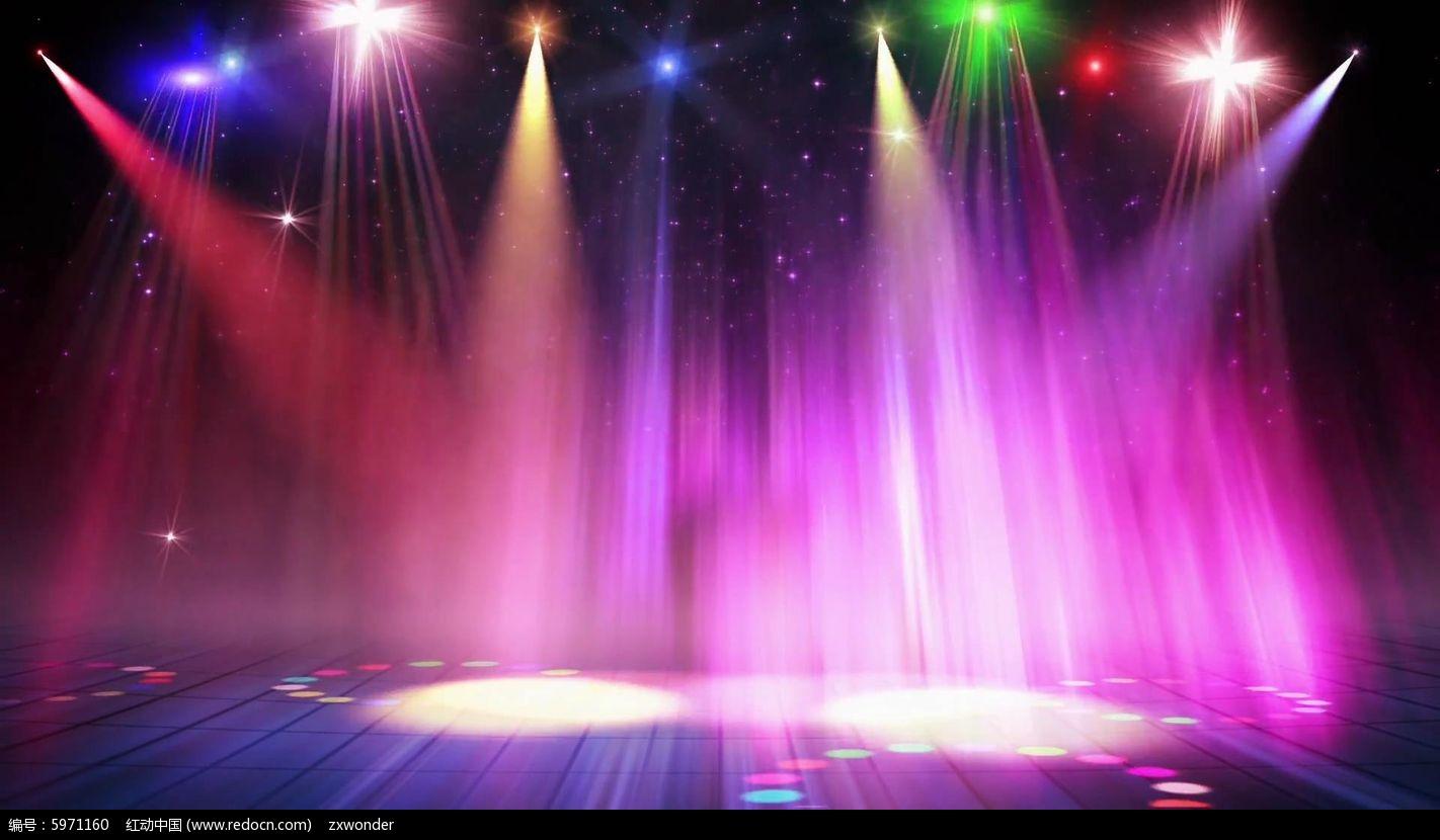 视频_动感绚丽灯光舞台背景视频