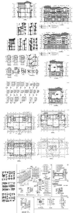豪宅别墅CAD图纸