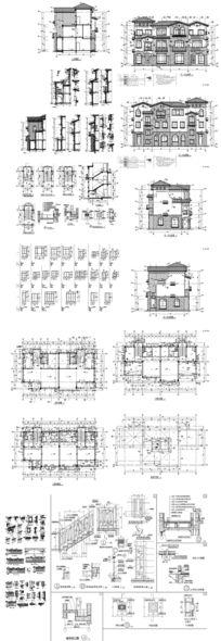 豪宅别墅CAD图纸 dwg
