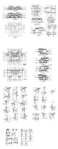 豪宅建筑图纸 dwg