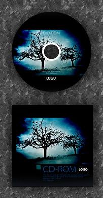 黑色树枝剪影CD设计
