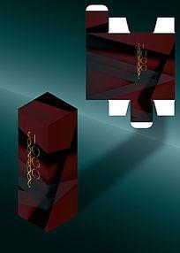 红黑几何设计包装盒模板