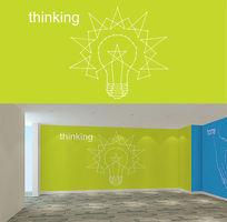 简约大气创意国外企业文化墙图案设计