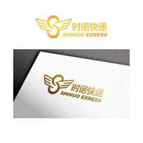 金色立体快递logo
