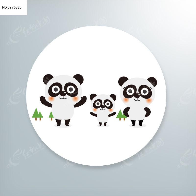 卡通熊猫插画图片