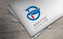 蓝色个性德泰医疗logo